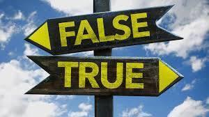 False / True
