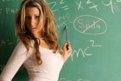 FP-blackboard woman