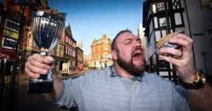 Wigan pie eating champion