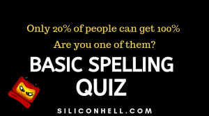 Basic Spelling Test