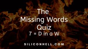 Missing Words Quiz