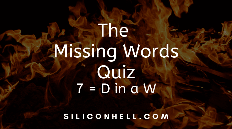 Missing Words Quiz