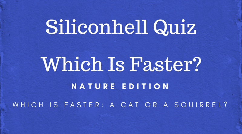 Quiz - Which Is Faster? Nature Edition