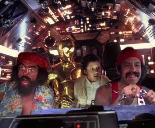 Funny Science Fiction Star Wars Cheech and Chong